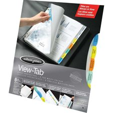 """View-Tab"" sheet protectors"